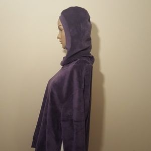 Sweaters - Beautiful, Velour Top with Attached Hood